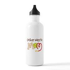 Cocker Westie Dog Mom Water Bottle