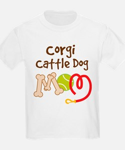 Corgi Cattle Dog Mom T-Shirt