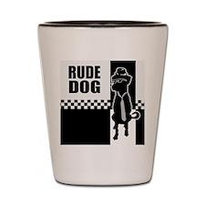 Rude Dog Shot Glass