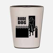 Rude Dog Shot Glass