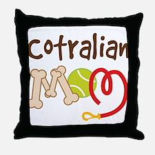 Cotralian Dog Mom Throw Pillow