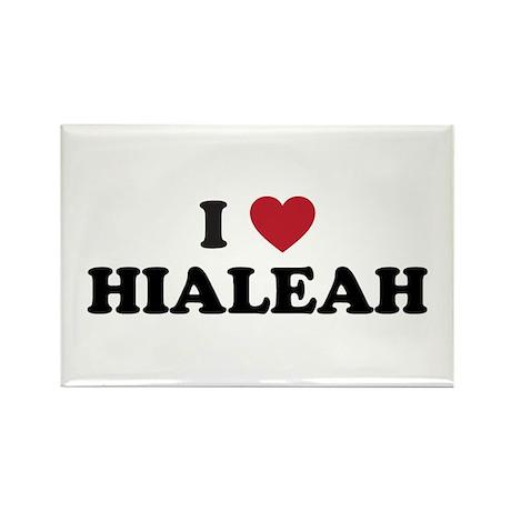I Love Hialeah Florida Rectangle Magnet