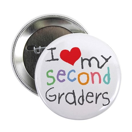 "I Love My 2nd Graders 2.25"" Button (10 pack)"