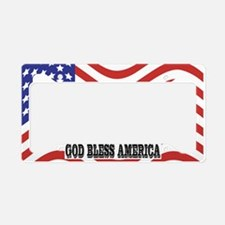 God Bless America License Plate Holder