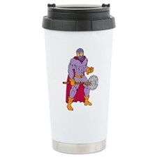 Executioner superhero with axe Travel Mug