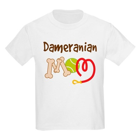 Dameranian Dog Mom Kids Light T-Shirt