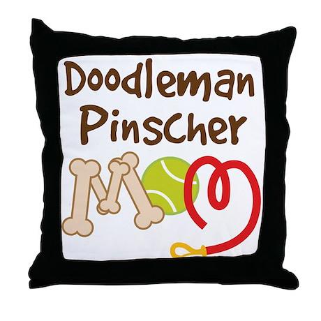 Doodleman Pinscher Dog Mom Throw Pillow