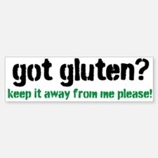Got Gluten Bumper Bumper Sticker