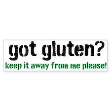 Got Gluten Bumper Sticker
