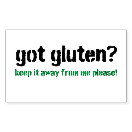 Got Gluten Sticker (Rectangle)