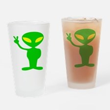 aliens for peace copy.png Drinking Glass