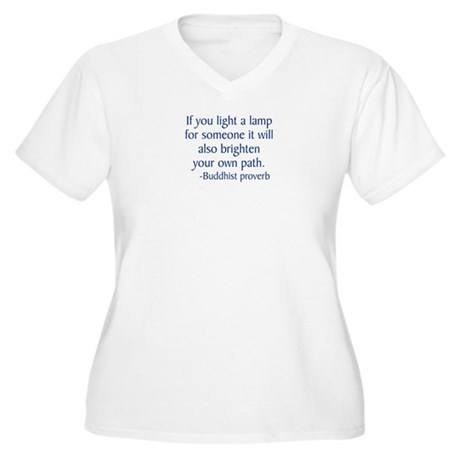 BuddhistLamp Women's Plus Size V-Neck T-Shirt