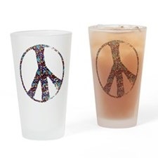peace sign.png Drinking Glass