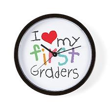 I Love My 1st Graders Wall Clock
