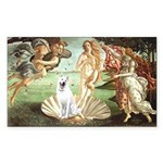 Venus-White German Shep Sticker (Rectangle)