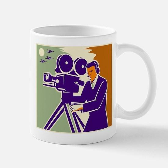 Cameraman Film Crew Vintage Video Movie Camera Mug