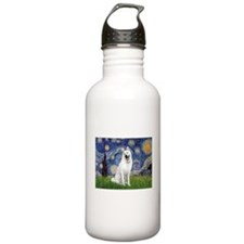 Starry-White German Shepherd Water Bottle