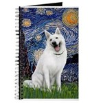 Starry-White German Shepherd Journal