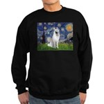 Starry-White German Shepherd Sweatshirt (dark)