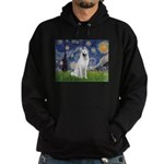 Starry-White German Shepherd Hoodie (dark)
