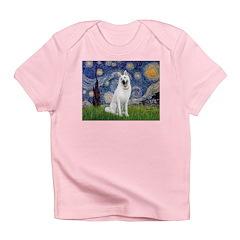 Starry-White German Shepherd Infant T-Shirt