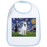 Starry-White German Shepherd Bib