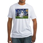 Starry-White German Shepherd Fitted T-Shirt
