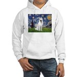 Starry-White German Shepherd Hooded Sweatshirt