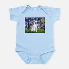Starry-White German Shepherd Infant Bodysuit