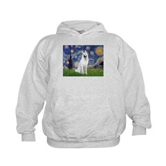 Starry-White German Shepherd Hoodie