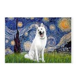 Starry-White German Shepherd Postcards (Package of
