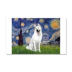 Starry-White German Shepherd Car Magnet 20 x 12