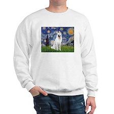 Starry-White German Shepherd Sweatshirt