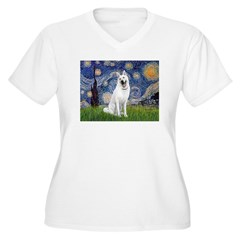 Starry-White German Shepherd T-Shirt