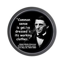 Emerson Genius Quote 2 Wall Clock