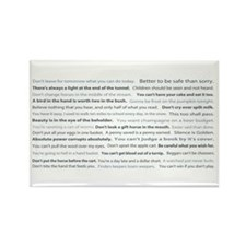 Words of Wisdom Rectangle Magnet