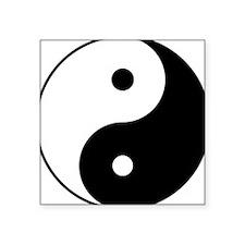 "Yin_yang.png Square Sticker 3"" x 3"""
