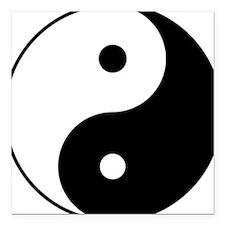 "Yin_yang.png Square Car Magnet 3"" x 3"""