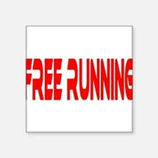 "freerunning4.png Square Sticker 3"" x 3"""