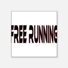 "freerunning5.png Square Sticker 3"" x 3"""