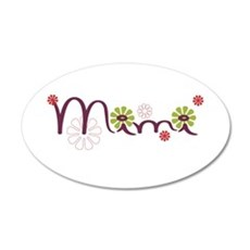 Mimi With Flowers Wall Decal