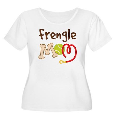 Frengle Dog Mom Women's Plus Size Scoop Neck T-Shi