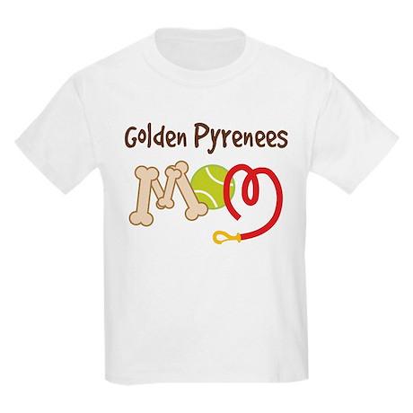 Golden Pyrenees Dog Mom Kids Light T-Shirt