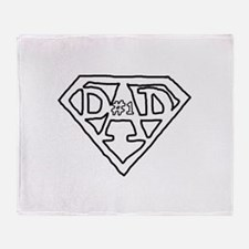 #1 dad Throw Blanket