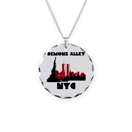 """""""NYC"""" Necklace Circle Charm"""