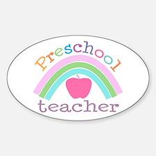 Preschool Teacher Oval Decal