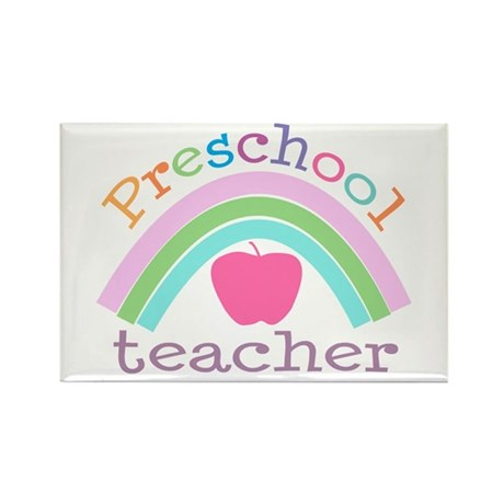 Preschool Teacher Rectangle Magnet