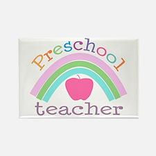 Preschool Teacher Rectangle Magnet