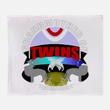 grandmother of twins.png Throw Blanket