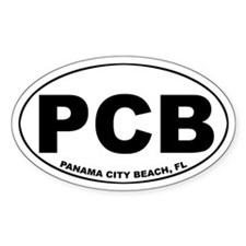 PCB (Panama City Beach) Oval Decal